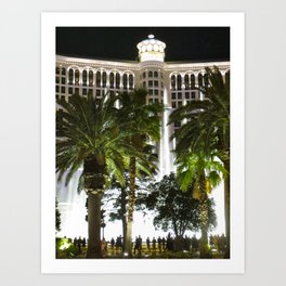 Bellagio Fountains Art Print
