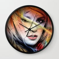 britney Wall Clocks featuring  britney spears  by mark ashkenazi