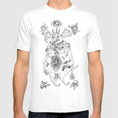 fat lucifer MEDIUM White Mens Fitted Tee