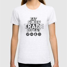 Eat sleep trade litecoin repeat T-shirt