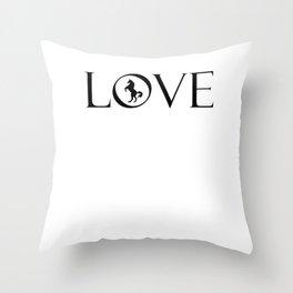 Horse Lover Black Throw Pillow