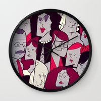 rocky horror picture show Wall Clocks featuring The Rocky Horror Picture Show by Ale Giorgini