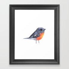 Flame Robin Framed Art Print