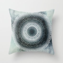 WINTER LEAVES MANDALA Throw Pillow