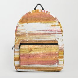 Gold abstract watercolor Backpack