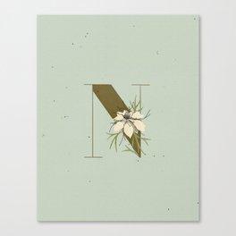 N for Nigella Canvas Print