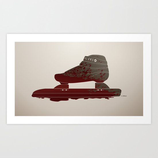 Bloody Skating - The Race is Over Art Print