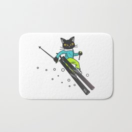 Ski action Bath Mat