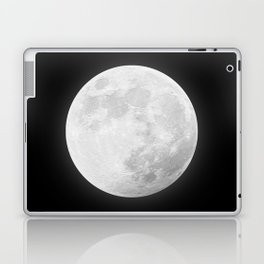 CHALK WHITE MOON Laptop & iPad Skin