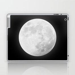 CHALK WHITE MOON Laptop & iPad Skin
