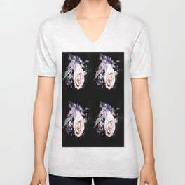 Pink and Purple Corsage Unisex V-Neck