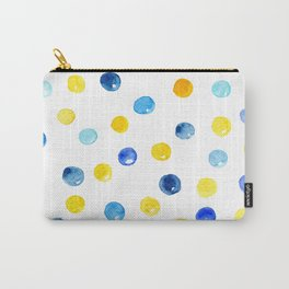 Blue and yellow marbles | Watercolor pattern Carry-All Pouch