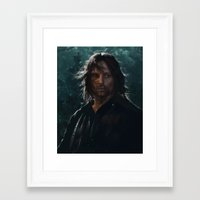 gondor Framed Art Prints featuring King of Gondor and Arnor by hart-coco
