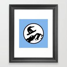 snowboarding 1 Framed Art Print