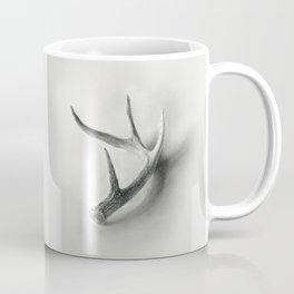 Lost and Found - Deer Antler Pencil Drawing Coffee Mug