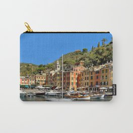 Colorful Fishing Village Carry-All Pouch