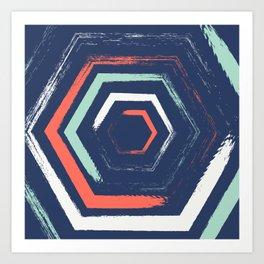 Hexagon Gate Art Print