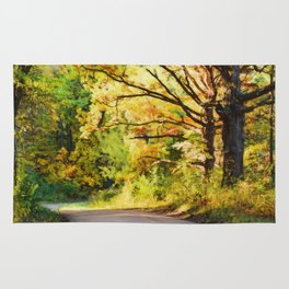Dirt Road Autumn Rug