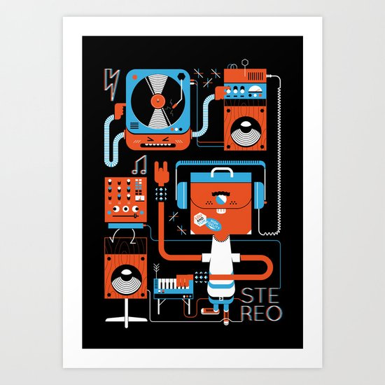 Stereo Found Art Print