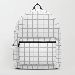 Light Grey Grid Pattern Backpack