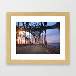 Sunset Drive Framed Art Print