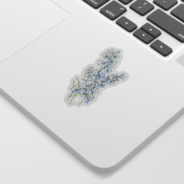 Blue Delphinium Flowers Sticker