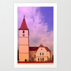 The village church of Kleinzell II | architectural photography Art Print