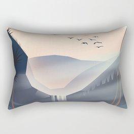Cartoon landscape in the evening. Rectangular Pillow
