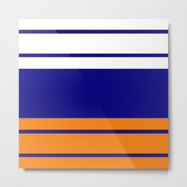 TEAM COLORS 9... orange , blue , white Metal Print