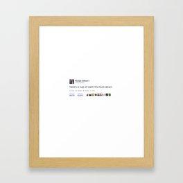 a nice cuppa Framed Art Print