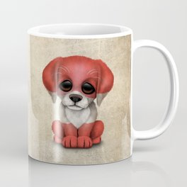 Cute Puppy Dog with flag of Austria Coffee Mug