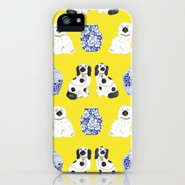 Staffordshire Dogs + Ginger Jars No. 6 iPhone Case