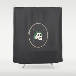 Rest to Dust Shower Curtain
