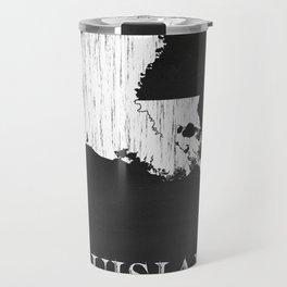 Louisiana State Map Chalk Drawing Travel Mug