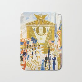 The Cathedrals of Wall Street by Florine Stettheimer, 1939 Bath Mat