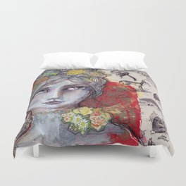 Nature Study by Jane Davenport Duvet Cover