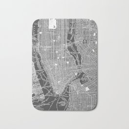 New York City Vintage Map Bath Mat