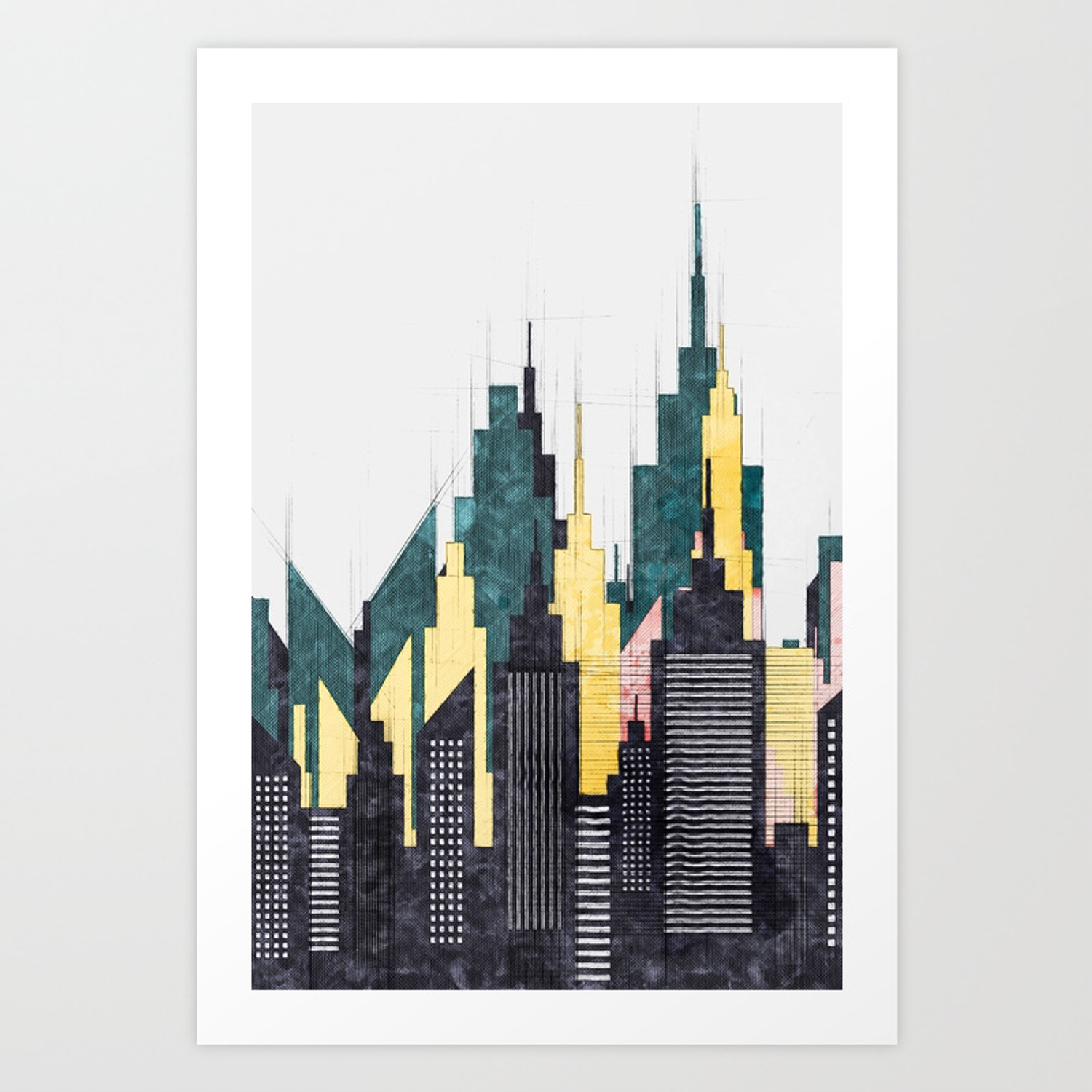 Colorful City Buildings And Skysers