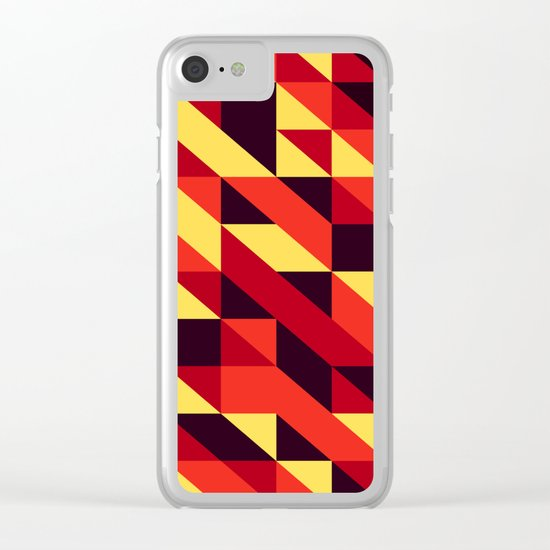 triangle lines Clear iPhone Case