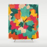 camo Shower Curtains featuring Aloha Camo by Picomodi