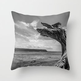 Whidbey Island Driftwood Throw Pillow