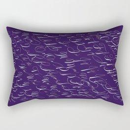 Spencerian Handwrite Rectangular Pillow