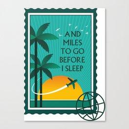 Miles to go Canvas Print