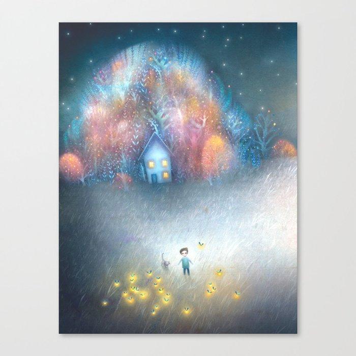 A Field of Fireflies Canvas Print