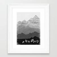 mineral Framed Art Prints featuring Mineral by Jenny Tiffany