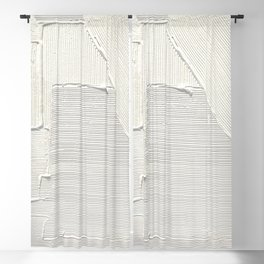 Relief [2]: an abstract, textured piece in white by Alyssa Hamilton Art Blackout Curtain
