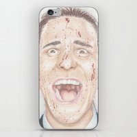 american psycho iPhone & iPod Skins featuring American Psycho by JadeJonesArt