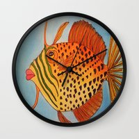 jay z Wall Clocks featuring Jay Z by Caribbean Critters Co.
