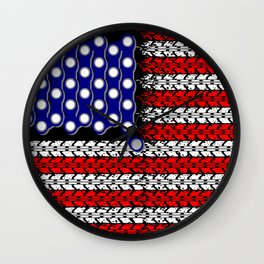 Bike USA Flag Wall Clock