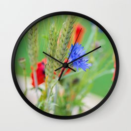 Bunch of of red poppies Wall Clock